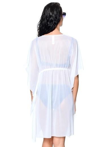 Kom Plaj Elbisesi Beyaz